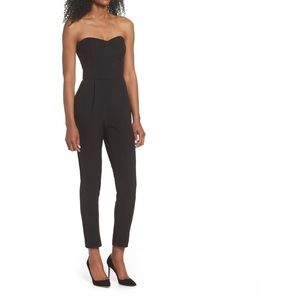 NWOT Nordstrom Adelyn Rae Strapless Slim  Jumpsuit